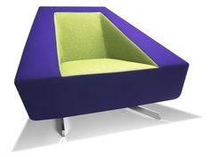 Fauteuil design Frame Parri violet vert - Photographie n°1
