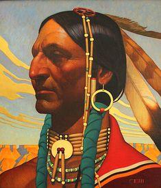 Golden Cloud, oil and gold leaf - by Thomas Blackshear II Native American Artwork, Native American Artists, American Indian Art, Native American Indians, Thomas Blackshear, Westerns, Southwestern Art, Cloud Art, Portraits