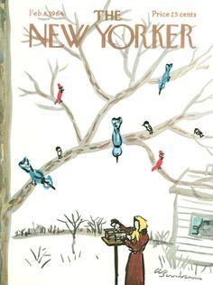 Abe Birnbaum : Cover art for The New Yorker 2034 - 8 February 1964