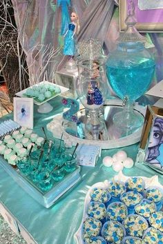 Frozen birthday party treats! See more party planning ideas at CatchMyParty.com!
