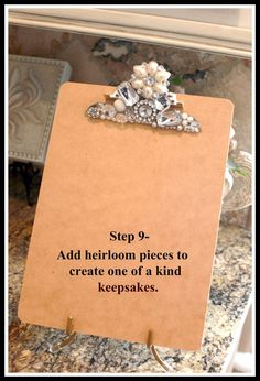 Super fun clipboard. What a cute way to use those pins I don't wear!