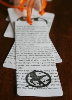 bookmarks made from book pages -- I love it but could I ever use a book page like this?
