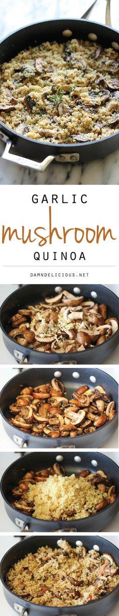Gluten-Free Garlic Mushroom Quinoa Recipe