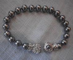Nolan Miller Grey Pearl Bracelet on Etsy, Sold