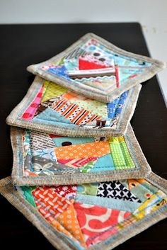 quilted coasters...scrappy