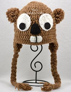... crochet adult hat made to order more groundhog crochet hats hats