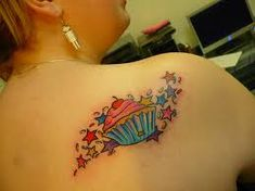 Cupcake Tattoos And Designs-Cupcake Tattoo Meanings And Ideas-Cupcake Tattoo Pictures
