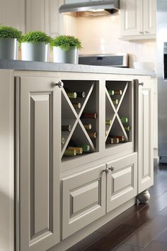 This Wine Storage Cabinet configuration can be used in a variety of designs to store anything from wine bottles, to shoes, to towels.