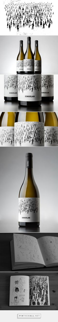 Singular Wine label design by Mariana Rio (Portugal) - http://www.packagingoftheworld.com/2016/08/singular-wine.html