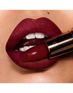 Explore Charlotte's wide range of lip products from matte lipstick to liquid lipstick, lip gloss matte liquid lipstick, lip liner and more. The expansive range includes nude lipsticks, statement red lipsticks and pretty pink shades. Lipstick For Fair Skin, Lipstick Art, Lipstick Shades, Lipstick Colors, Lip Colors, Lipsticks, Dark Lipstick, Perfect Lipstick, Night Makeup