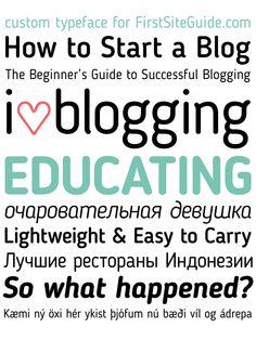 #RecursosWeb #Tipografia Blogger Sans una divertida fuente. #TAVnews
