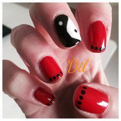 #nails#dil #red#black#milan#easy#solo smalto niente gel