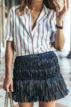 La jupe en raphia Isabel Marant, adorable mais à laisser aux bords de plage... (blog Collage Vintage)
