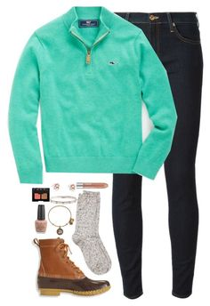 Vineyard Vines by kaley-ii on Polyvore featuring 7 For All Mankind, River Island, L.L.Bean, Alex and Ani, J.Crew, Clinique, OPI, Vineyard Vines, NARS Cosmetics and women's clothing