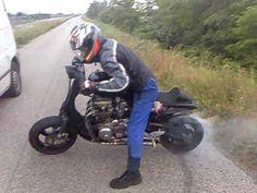 vespa 650cc - burnout