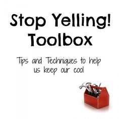 Stop Yelling Toolbox | Dirt and Boogers