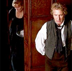 """When Marianne gets sick and he says, """"Give me an occupation, Ms. Dashwood, or I shall go mad."""