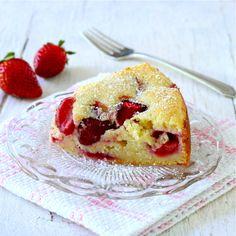 Strawberry-Ricotta Cake - Liz the Chef