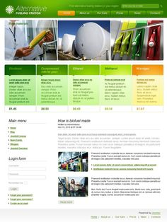 Alternative Fuel Joomla Templates by Glenn