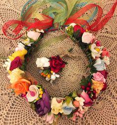 taç, çiçekli taç, gelin tacı, gelin, düğün, bride crown