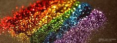 Rainbow Glitter Facebook Covers