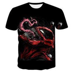 """T-shirt For Men New Venom T-shirt """"Marvel"""" T-shirts With Print For Men Cool Shirts For Men, 3d T Shirts, Casual Tops, Casual Shirts For Men, Funny Shirts, New Venom, Venom T Shirt, Dragon Ball, Shirt Style"""