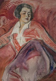 """Mario Cavaglieri (1887-1969) """"Juliette au divan"""" (c. 1930) musée des Jacobins, Auch (Gers, France)"""