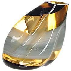 Letona Brown, Amber and Gray Slanted Glass Vase