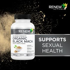 Black Maca is able to balance hormones in both men and women. In women, maca has been shown to reduce painful menstrual cramps, limit hot flashes, increase libido and improve mood. Save on your checkout by using this code ✅RENEWVIP✅ Black Maca, Maca Root Powder, Hot Flashes, Hormone Balancing, Natural Energy, How To Increase Energy, Fertility, Organic, Health