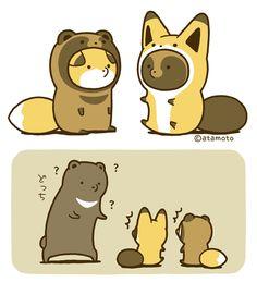 Cute Kawaii Animals, Kawaii Cute, Kawaii Chibi, Fox Art, Anime Animals, Cute Friends, Cartoon Design, Cute Images, Pictures To Draw