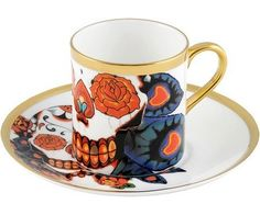 Inkhead Espresso Cup and Saucer Set, The New English – £128 - An elegant set of two unique cups and saucers. The perfect present for all coffee lovers.