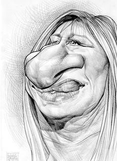 Barbra Streisand Artist: Russ Cook website: http://www.russcook.co.uk/index.htm