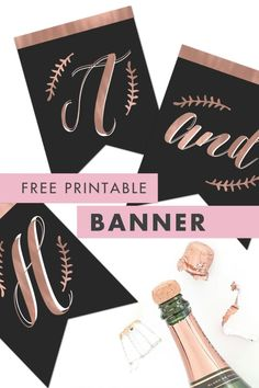 We are thrilled to share with you a Free Printable Rose Gold Bunting Banner that is perfect for weddings, baby showers, bridal showers, bachelorette parties, or birthday parties. What's awesome is that you can print out as many letters, numbers, or symbols as you need, so the possibilities are endless! We love this free party decor idea! Get yours now! #bunting #partydecor #showerdecor #bachelorettepartydecor Free Printable Banner Letters, Free Banner, Bunting Banner, Bachelorette Party Decorations, Bachelorette Parties, Free Wedding, Handmade Wedding, Bridal Showers, Baby Showers