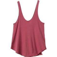 RVCA Women's  Label Drape Tank Top ($24) ❤ liked on Polyvore featuring tops, loose tops, red tank, loose fitting tank tops, red singlet and loose fit tank tops