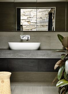 Matt Gibson Architecture + Design | Australian Design Review | Photo by DerekSwawell   #Concrete #Bathroom #Interior