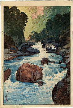 Yoshida Hirobi, Kurobe River, Castle Fine Arts