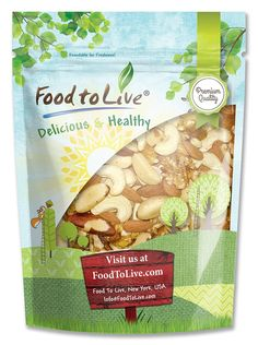 Food To Live Mixed Raw Nuts (Cashews, Brazil Nuts, Walnuts, Almonds) (2 Pounds) -- Wow! I love this. Check it out now! : Fresh Groceries