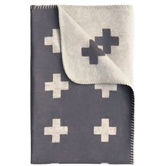 Cross Blanket, gray - Pia Wallen