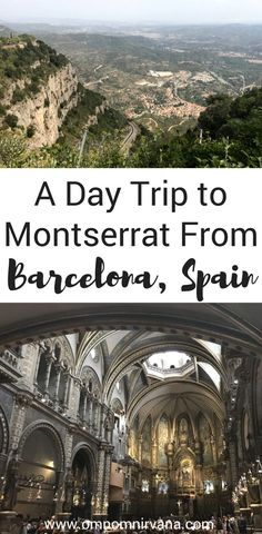 Are you looking for fun things to do near Barcelona, Spain? Check out this fun day trip from Barcelona to Montserrat, Spain. It's a beautiful town with spectacular views, and a monastery. Come see why we loved this day trip in Spain so much and why you should check it out when you're in Barcelona. Don't forget to save this to your travel board so you can find it. #barcelona #spain #daytrip #montserrat