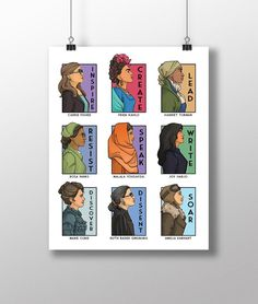 She Series Collage - Version Four - Medium Print Rosa Parks, Marie Curie, Harriet Tubman, Lore Olympus, Collage, Marvel, African American History, American Women, Native American