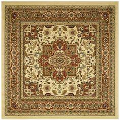 Safavieh Lyndhurst Ivory/ Rust Rug (10' Square)