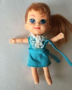 "Liddle Kiddles Doll 1965 Red Hair Blue Eyes 3.5"" w Fancy Pants Dress Japan available in my #eBay store  #kiddle #liddlekiddle #vintage #vintagedoll #vintagekiddle #mattel #vintagemattel"
