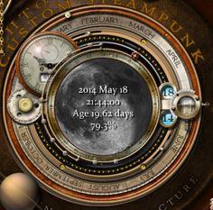 Steampunk Moon Phase Widget