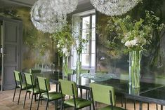 flower themed dining room