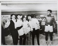 beatles muhammad ali photo | MUHAMMAD ALI ORIGINAL 1964 WIRE PHOTOGRAPH WITH THE BEATLES - Price ...