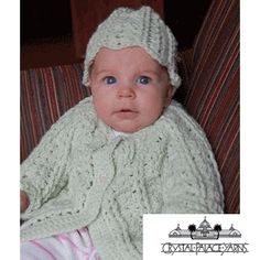 Shell Stitch Cardigan and Hat Crocheted Babies' cardigan by Crystal Palace Yarns