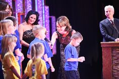 Kids from Scotty's Little Soliders Charity - no stage fright for them!