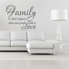 Wandtattoo - family is what happens
