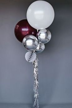 burgundy and silver decor