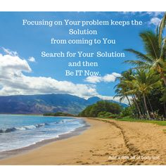 You can't create your life focusing on your problems. Look for Solutions. #Motivation #inspiration #Success #Mindset #Goals iCreateMyLifeToday.com